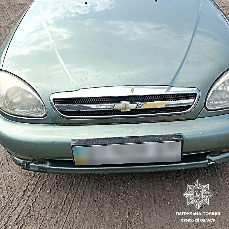Патрульні Сумської області зупинили авто, яке знаходиться у розшуку